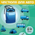 Фото: Сумку для мусора «Чистюля для авто». Рекламный плакат.