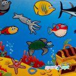 Фото №1: Детский коврик «Мультики: морское дно».
