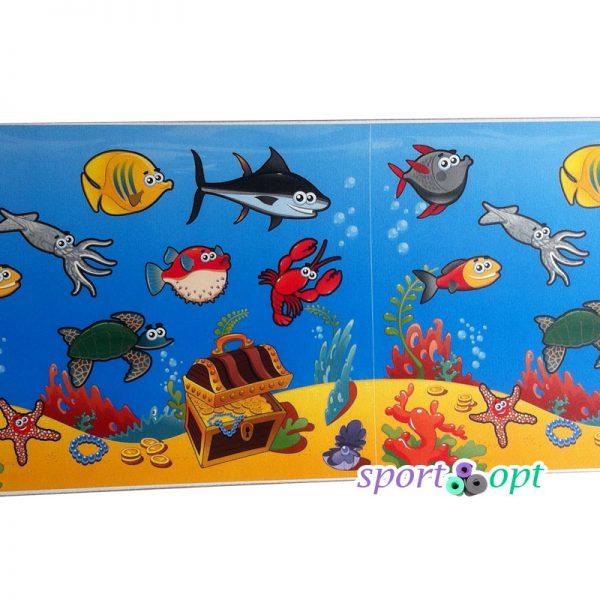 Фото №2: Детский коврик «Мультики: морское дно».