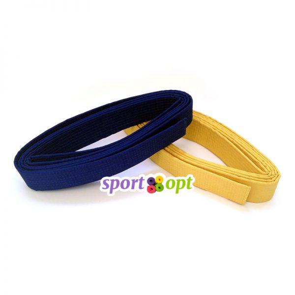 Пояс для кимоно Champion (синий + желтый). Фото №1.