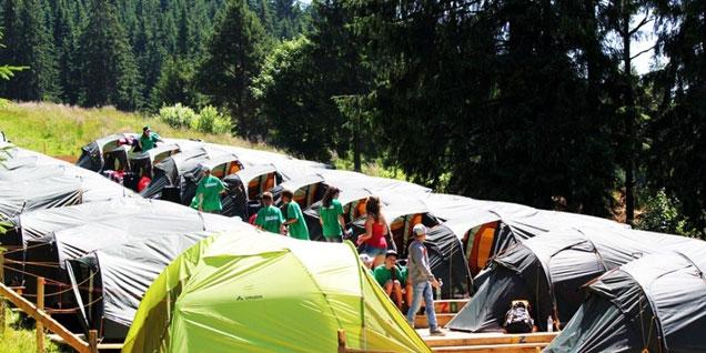 Фото: Детский спортивній лагерь в Карпатах.