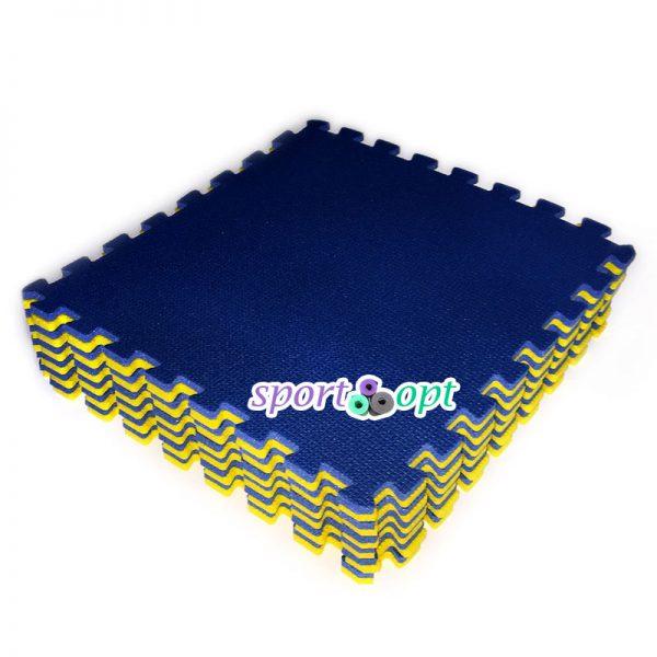 Мягкое напольное модульное покрытие (желто-синее).