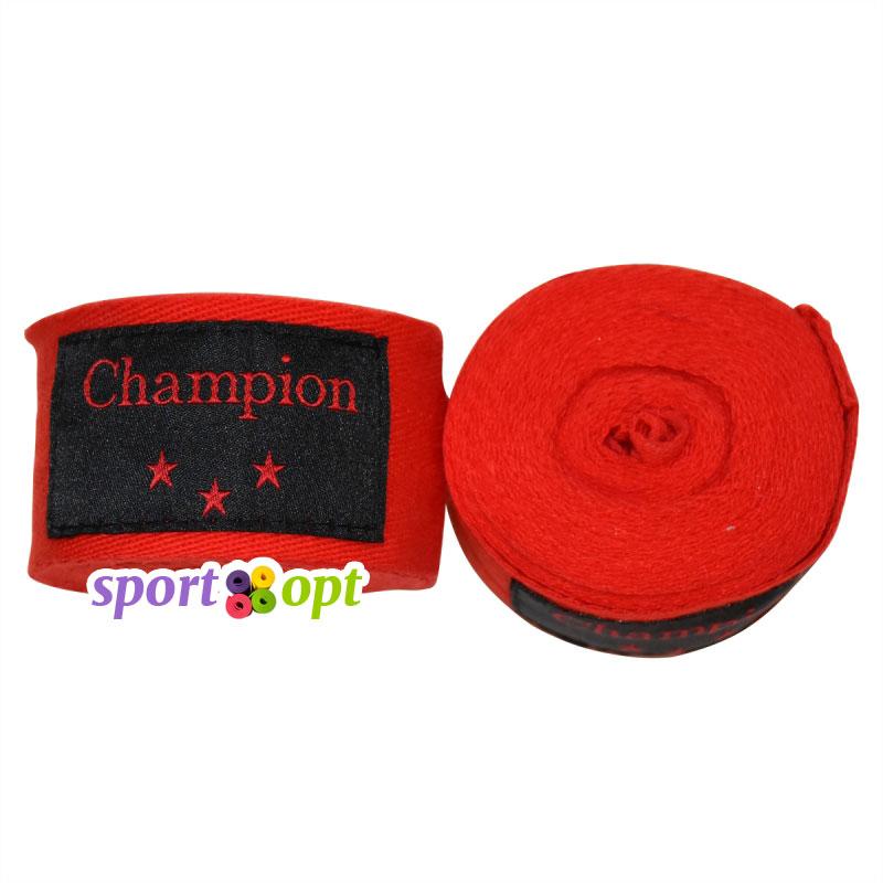 Боксерский бинт Champion (красный). Фото №1.