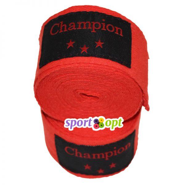 Боксерский бинт Champion (красный). Фото №3.