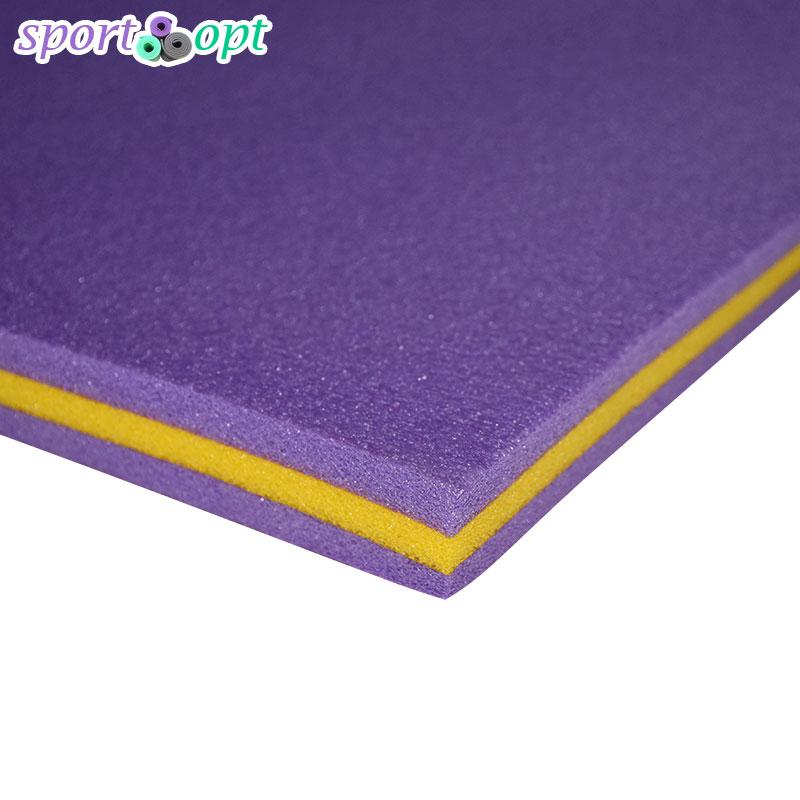 Мат спортивный (25 мм): фиолетовый с желтым.