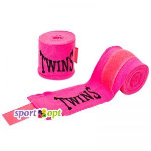 Боксерский бинт Twins (розовый). Фото №1.
