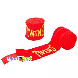 Боксерский бинт Twins (красный). Фото №1.