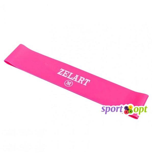 Эспандер ленточный Zelart. Розовый. Фото №1.