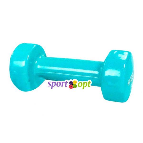 Гантель для фитнеса Zelart ZF2. Бирюзового цвета.