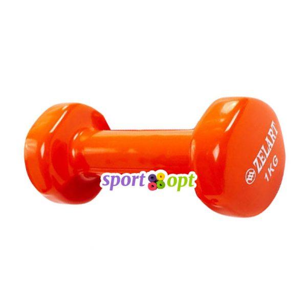 Гантель для фитнеса Zelart ZF2. Оранжевого цвета.