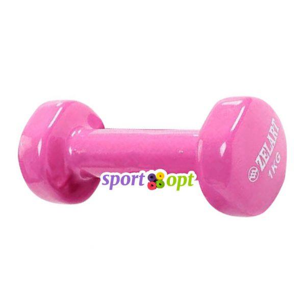 Гантель для фитнеса Zelart ZF2. Розового цвета.