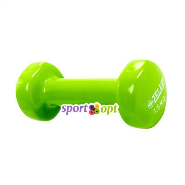 Гантель для фитнеса Zelart ZF3. Салатового цвета.