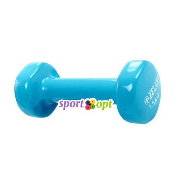 Гантель для фитнеса Zelart ZF3. Голубого цвета.