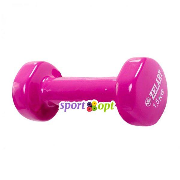 Гантель для фитнеса Zelart ZF3. Фиолетово-красного цвета.