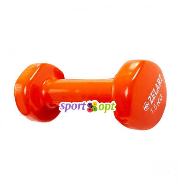 Гантель для фитнеса Zelart ZF3. Оранжевого цвета.