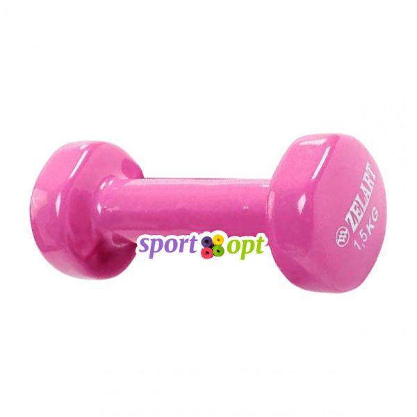 Гантель для фитнеса Zelart ZF3. Розового цвета.