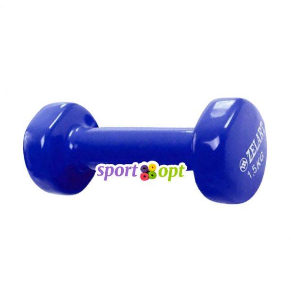Гантель для фитнеса Zelart ZF3. Синего цвета.