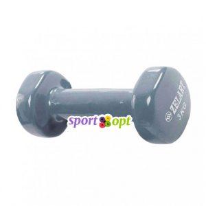 Гантель для фитнеса Zelart ZF5. Серого цвета.