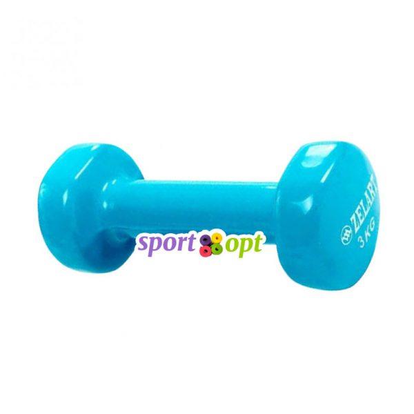 Гантель для фитнеса Zelart ZF5. Голубого цвета.