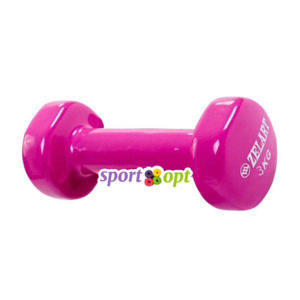Гантель для фитнеса Zelart ZF5. Фиолетово-красного цвета.