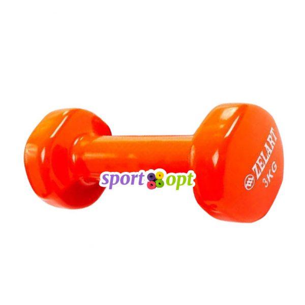 Гантель для фитнеса Zelart ZF5. Оранжевого цвета.