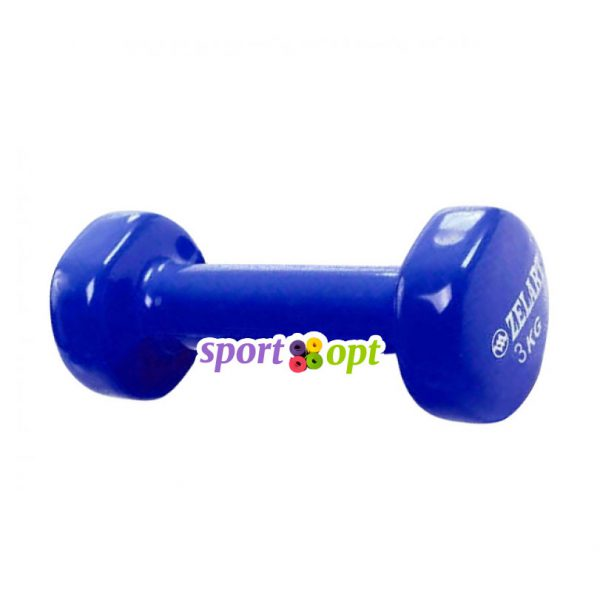 Гантель для фитнеса Zelart ZF5. Синего цвета.
