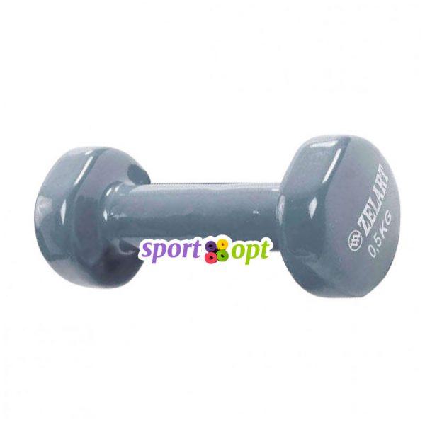 Гантель для фитнеса Zelart ZF1. Серого цвета.