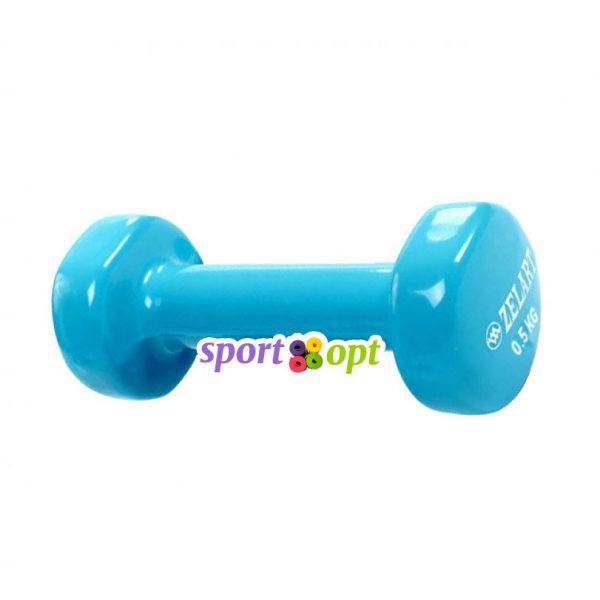 Гантель для фитнеса Zelart ZF1. Голубого цвета.