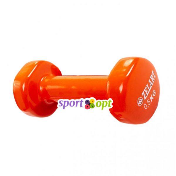 Гантель для фитнеса Zelart ZF1. Оранжевого цвета.