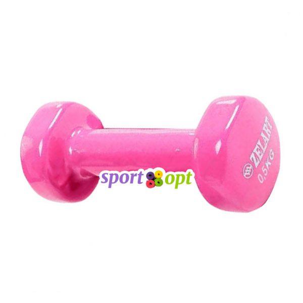 Гантель для фитнеса Zelart ZF1. Розового цвета.