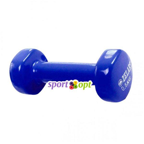 Гантель для фитнеса Zelart ZF1. Синего цвета.