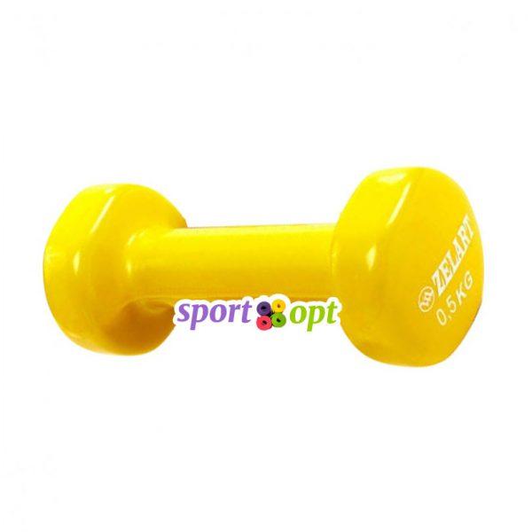 Гантель для фитнеса Zelart ZF1. Жёлтого цвета.